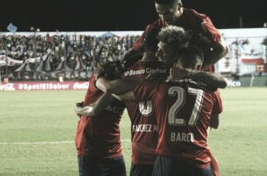 Festejo en el gol del 'Rojo' | Foto: @Independiente.