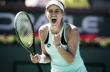 Jacqueline Cako created a huge upset over the sixth seed today   Photo: Jimmie48 Tennis Photography