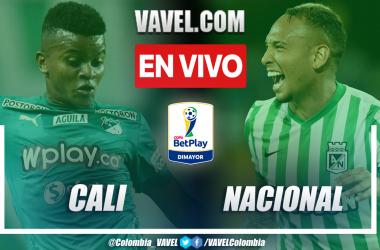 Resumen y goles: Cali 2-2 Nacional en la semifinal de ida de la Copa BetPlay 2021