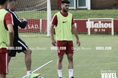 Jordi Calavera en una sesión de entrenamiento. | Imagen: Diego Blanco-VAVEL.