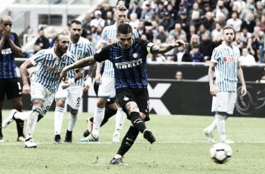 Il momento del rigore di Mauro Icardi   Calcio News 24