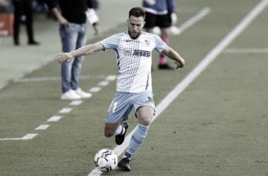 Calero en un encuentro con el Málaga CF / Fuente: Málaga CF