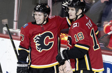 The Calgary Flames have a lot to smile about this season. | (Photo: Leah Hennel/Postmedia)