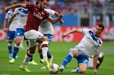 Goalscorer Calhanoglu frustrates Brescia<div>Photo Credit: Miguel Medina/Getty Images</div>