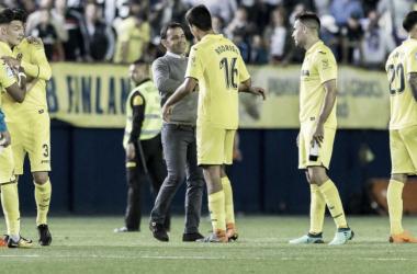 Calleja con Rodrigo tras el partido | Foto: Villarreal Web