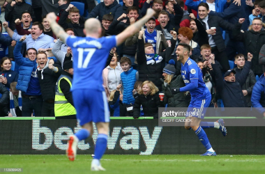 Victor Camarasa celebrates against West Ham via Getty Images