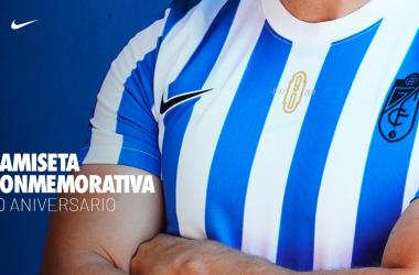 Camiseta conmemorativa del 90 aniversario del Granada CF | Foto: GCF