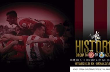Cartel del partido Girona-Getafe (Foto: Girona FC)