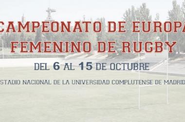 Cartel promocional del Campeonato de Europa Femenino de Rugby. Foto: ferugby.es