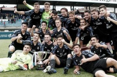 Los jugadores del Madrid celebrando el título. Fuente: Realmadrid.com