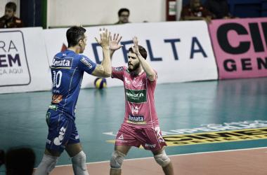 O Campinas venceu o São Judas Voleibol por 3 sets a 0 na abertura da Superliga (Foto: Divulgação/Vôlei Renata)