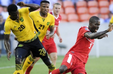 Jamaica and Canada are set to battle for a spot in the 2017 Gold Cup semiginals. | Source: Eric Smith - AP