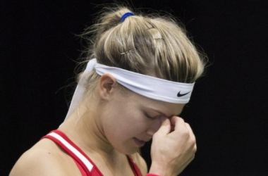 Eugenie Bouchard during the Fed Cup First Round. Photo: Montreal Gazette