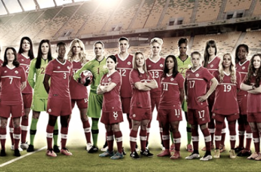 Canadian Women's National Team  photo shoot taking on the Road  to Rio 2016 (Source: Canadasoccer.com)