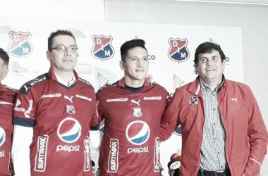 """Germán Cano: """"Me siento muy bien, de a poco me voy acoplando al equipo""""   Foto: VAVEL Colombia - Daniela Paniagua."""