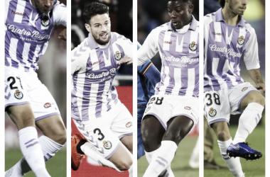 De izquierda a derecha: Miguel de la Fuente, Moisés Delgado, Salisú y Javier Aparicio // Foto: La Liga