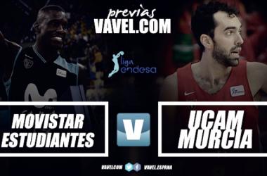 Movistar Estudiantes - UCAM Murcia: Los universitarios vuelven al colegio para seguir ganando | Montaje: Álvaro García (VAVEL)