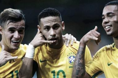 Coutinho, Neymar e Jesus // Foto:F. BIZERRA(EFE)