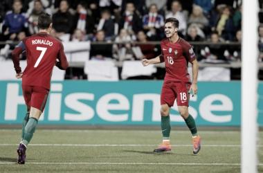 Cristiano Ronaldo e André Silva são uma dupla poderosa no ataque das quinas // Foto: Facebook Seleções de Portugal
