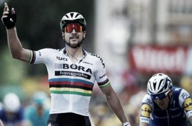 Vitória muito importante para o objetivo de Sagan - a conquista da camisola verde // Fonte: Eurosport
