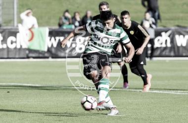 Alan Ruiz tem estado em destaque nesta pré-época dos leões // Foto: Facebook do Sporting CP