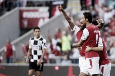 """SC Braga não larga o pódio: minhotos com """"Boavista"""" para a liderança // Foto: Facebook do SC Braga"""