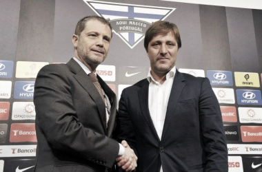 Pedro Martins foi apresentado na manhã desta quarta-feira // Foto: Facebook do Vitória Sport Clube