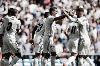 Cristiano Ronaldo foi autor de um dos golos // Foto:Ángel Martínez / realmadrid.com