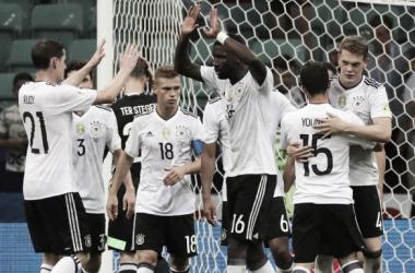 A Alemanha será finalista da Taça das Confederações, com o Chile // Foto:ARMANDO BABANI-EFE