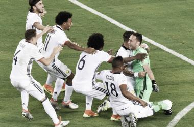 As grandes penalidades ditaram a passagem da Colômbia às meias finais // Foto: twitter.com/CONMEBOL