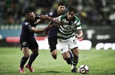 O Sporting não conseguiu garantir 3 pontos // Foto: AFP