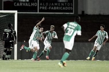 O Rio Ave festejou 3 tentos frente ao Sporting // Foto:Fábio Poço/global Imagens