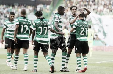 O Sporting conquistou a primeira vitória do Campeonato // Foto: Facebook do Sporting CP