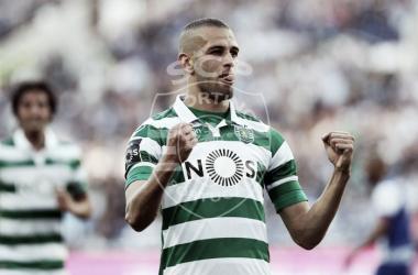 Slimani foi o goleador dos clássicos na presente temporada // Foto: Facebook do Sporting CP