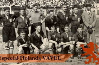 Equipe da Holanda que participou da Copa do Mundo de 1934 (Arte: Rafael Mateus VAVEL/Brasil sobre foto de Nationaal Archief)