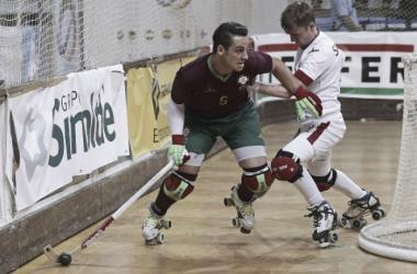 A seleção de hóquei em patins conseguiu o apuramento para a final // Foto: José Coelho /http://desporto.sapo.ptc