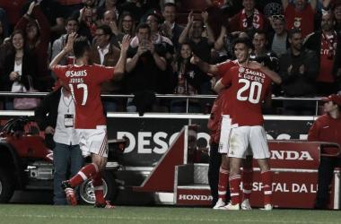Jonas e Jiménez colocaram o Benfica na final da Taça CTT // Foto: Facebook do SL Benfica