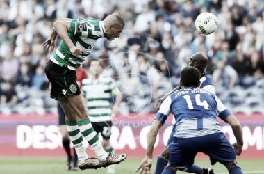Slimani bisou e mantém o leão no caminho do líder // Foto: Facebook do Sporting CP