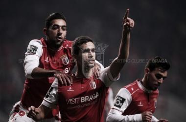Braga revestido de bronze: minhotos esmagam Feirense (6-2) // Foto: Facebook do SC Braga