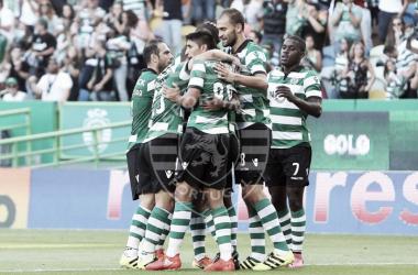Os leões conquistaram a 4ª vitória do campeonato // Foto: Facebook do Sporting CP