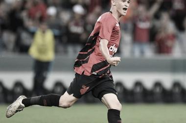 Khellven marcou seu primeiro gol como profissional (foto: Miguel Locatelli/CAP)