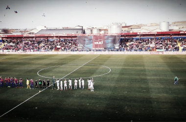 Imagen antes del inicio del Extremadura-CF Rayo // Imagen: Twitter (@EXT_UD)