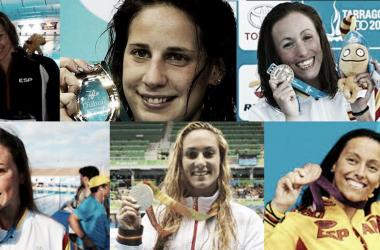 Nadadoras que hacen historia en la natación española / Fuente: elaboración propia (RFEN)