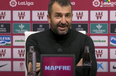 Diego Martínez en la rueda de prensa. Foto: Captura LaLiga Santander.