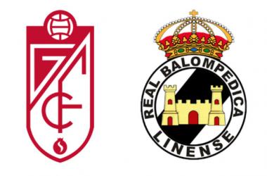 Imagen de los escudos del Granada y RB Linense. Fotomontaje: Granada CF.