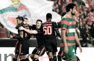 As águias arrasaram os madeirenses // Foto: Facebook do SL Benfica