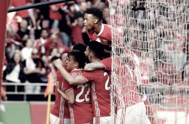 O Benfica só depende de si para fazer História // Foto: Facebook do Sport Lisboa e Benfica