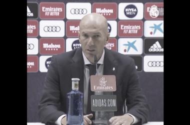 """Zidane: """"No estuvimos muy acertados en la segunda parte"""""""