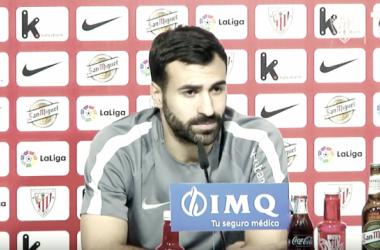 Mikel Balenziaga en rueda de prensa - vía Youtube.es (Athletic TV)