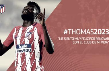 Thomas es fiel al Atlético de Madrid hasta 2023